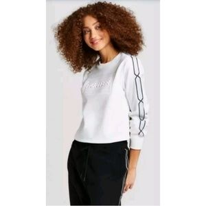 Hunter for Target White Cropped Pullover